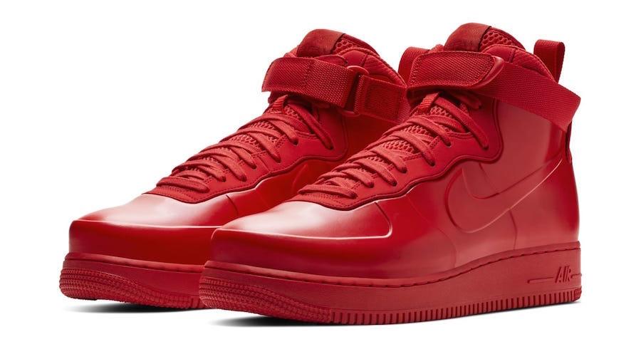 design de qualité d77f3 c71d9 Nike Air Force 1 Foamposite Red
