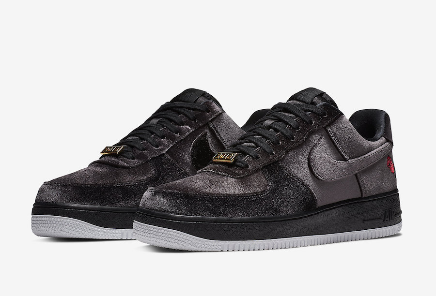 nike air force 1 rose velvet