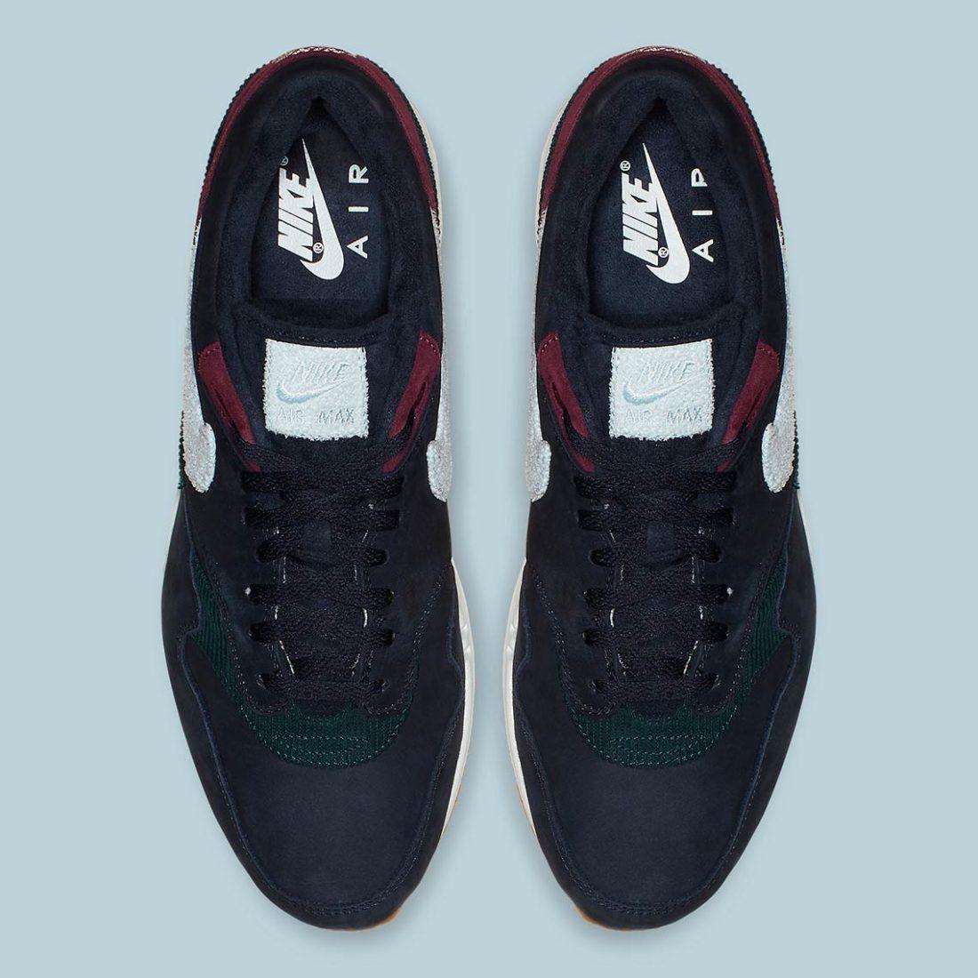 Nike Air Max 1 Premium Crepe Sole Dark Obsidian Cd7861 400