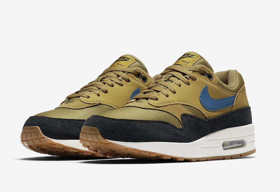 Air Max 1 (Golden MossBlue Force Black)