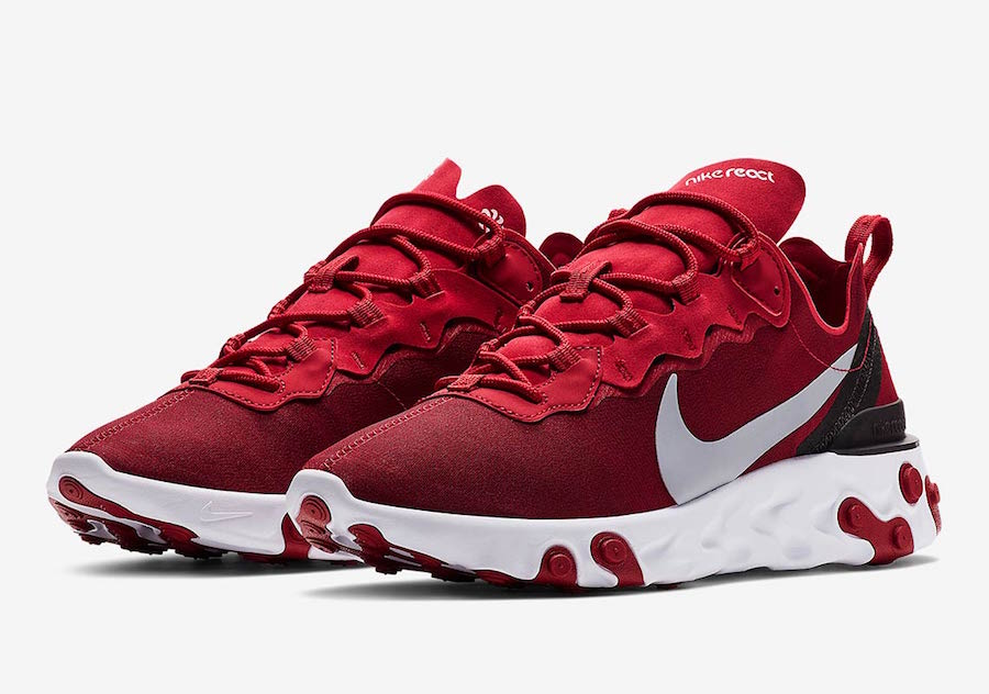 competitive price limited guantity good Preview: Nike React Element 55 Red - Le Site de la Sneaker