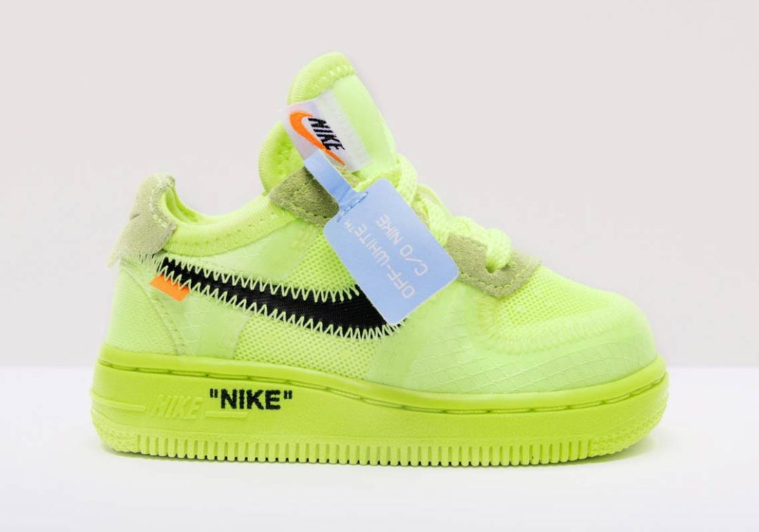 pretty cheap store various styles Preview: Off-White x Nike Air Force 1 Low TD Volt - Le Site ...