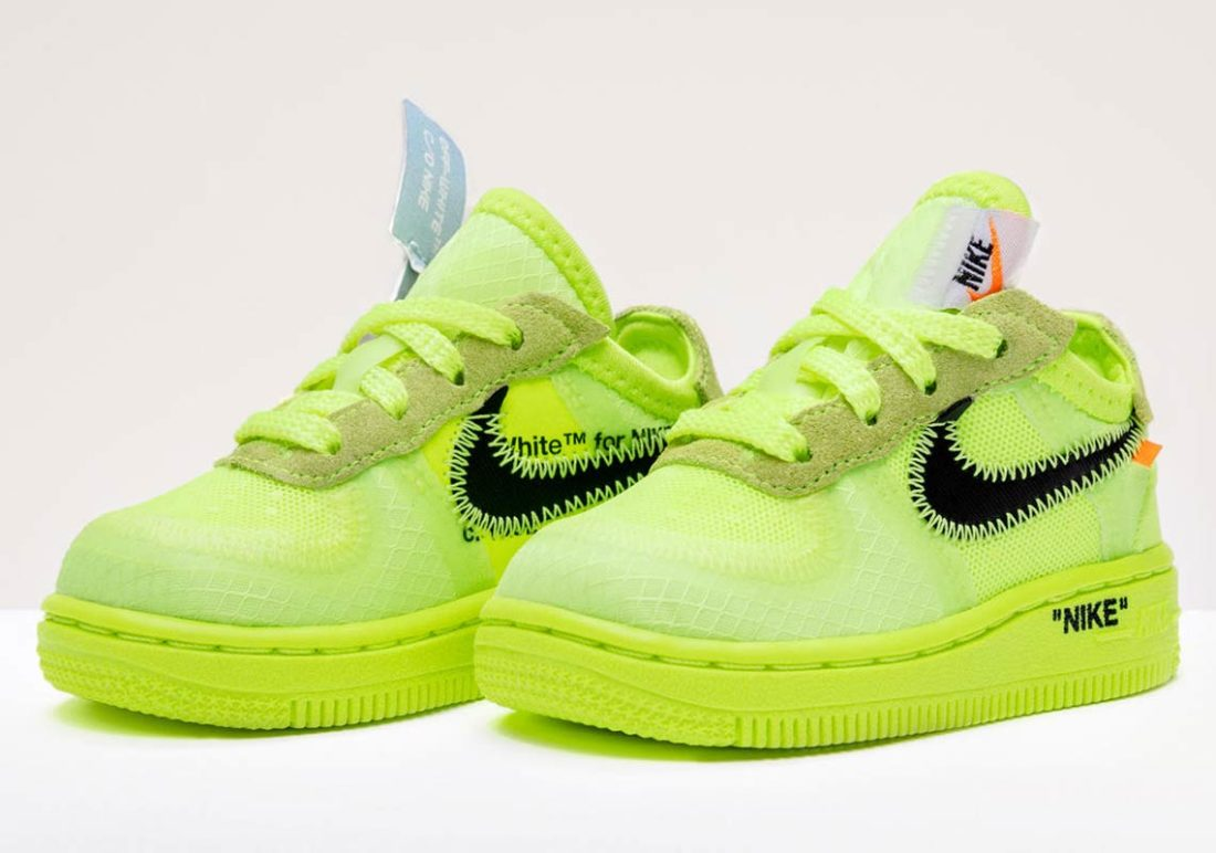 Preview: Off White x Nike Air Force 1 Low TD Volt Le Site