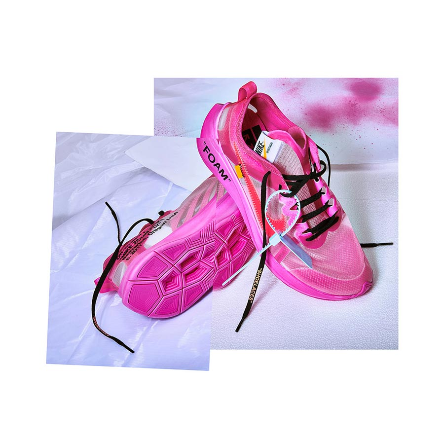 many fashionable best value amazing selection Off-White x Nike Zoom Fly SP Tulip Pink