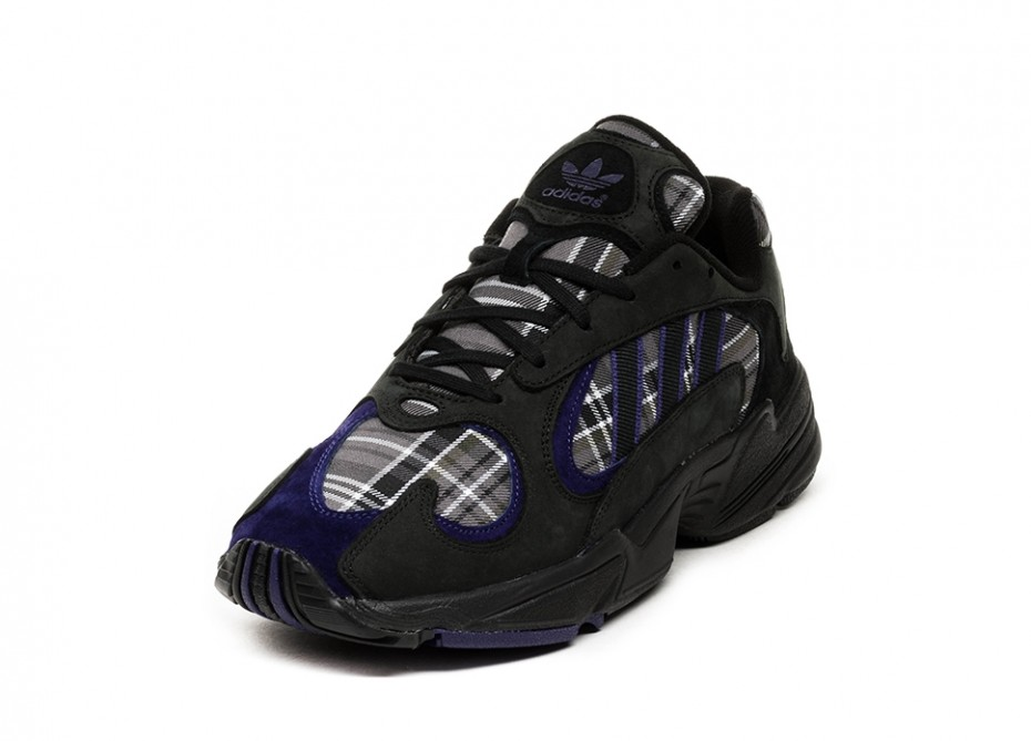 adidas Yung-1 Plaid Black Purple - Le Site de la Sneaker ca42588ca