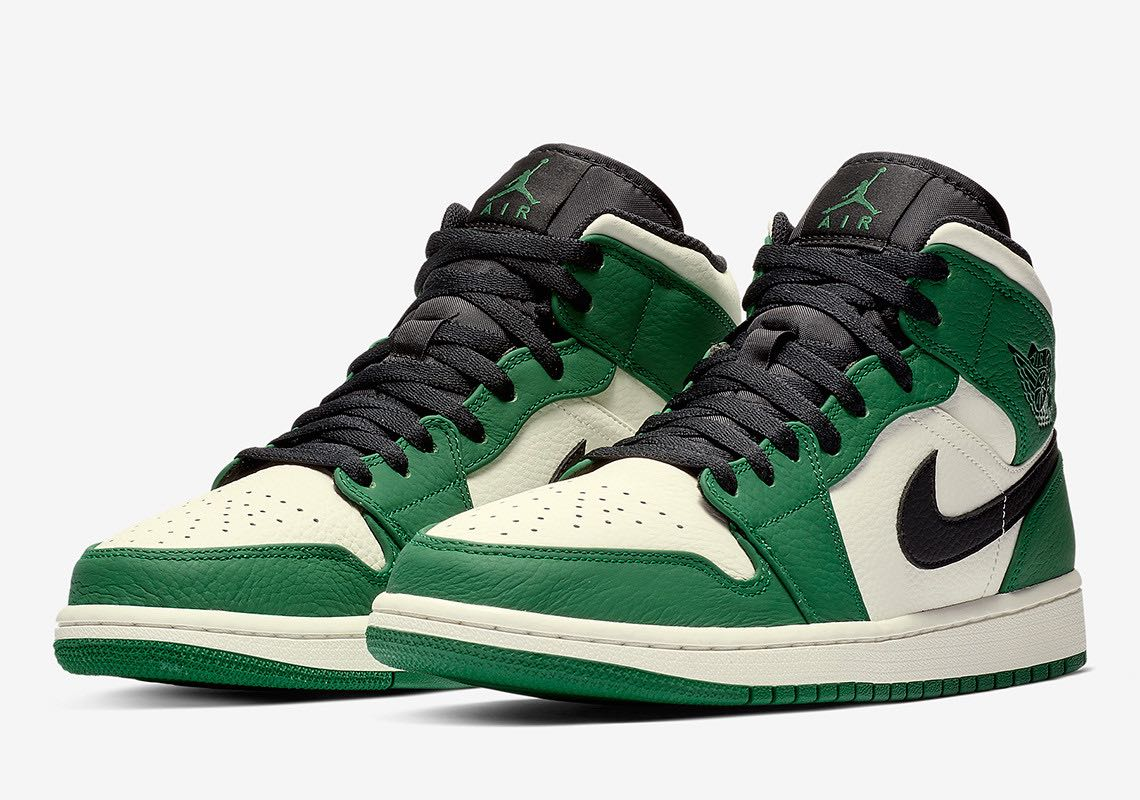 Preview: Air Jordan 1 Mid Pine Green - Le Site de la Sneaker