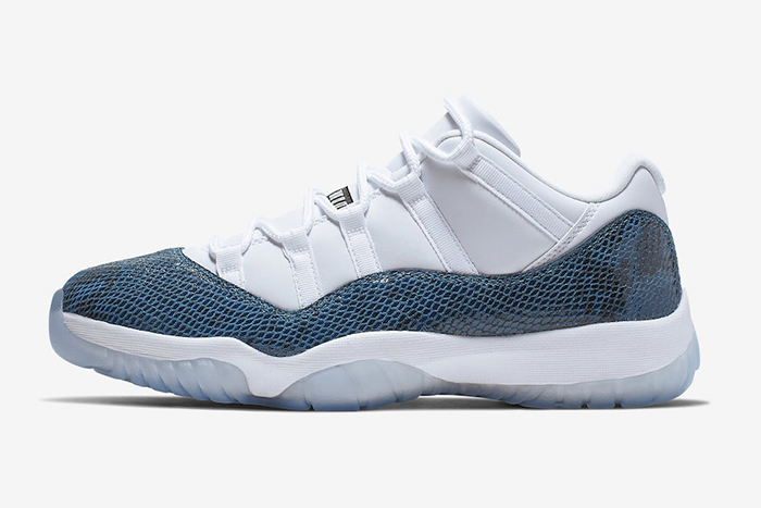 commercialisable prix le plus bas meilleur site web Air Jordan 11 Low Navy Snakeskin