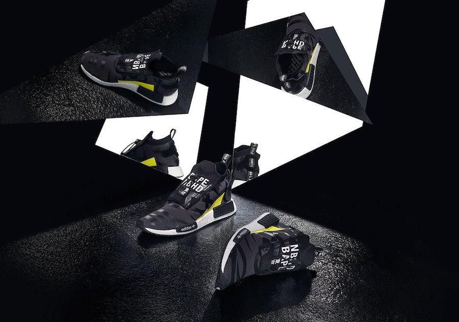 hot sale online 170eb 6681b BAPE x NEIGHBORHOOD x adidas Originals 'NHBAPE NMD STLT'