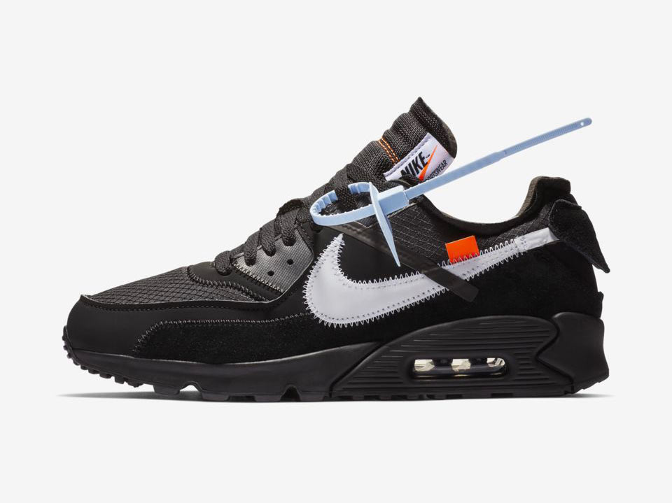 Off White x Nike Air Max 90 Black Cone