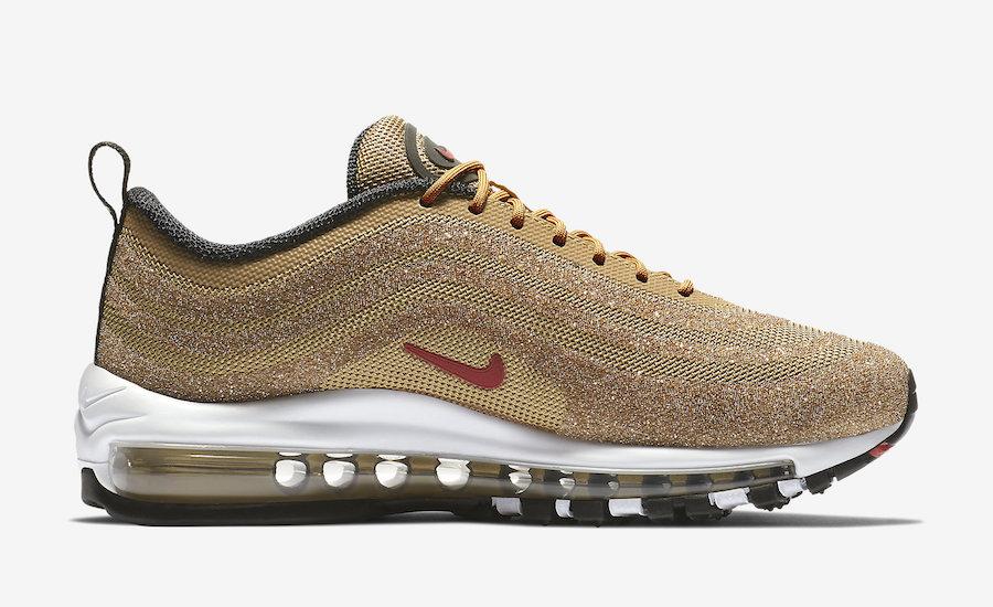 Nike Air Max 97 Gold Swarovski Crystal
