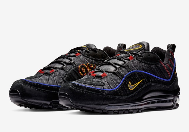 Nike Air Max 98 Black Amarillo