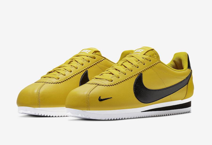 nike classic cortez jaune