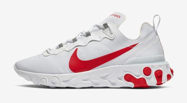 Preview: Nike React Element 55 White Red - Le Site de la Sneaker