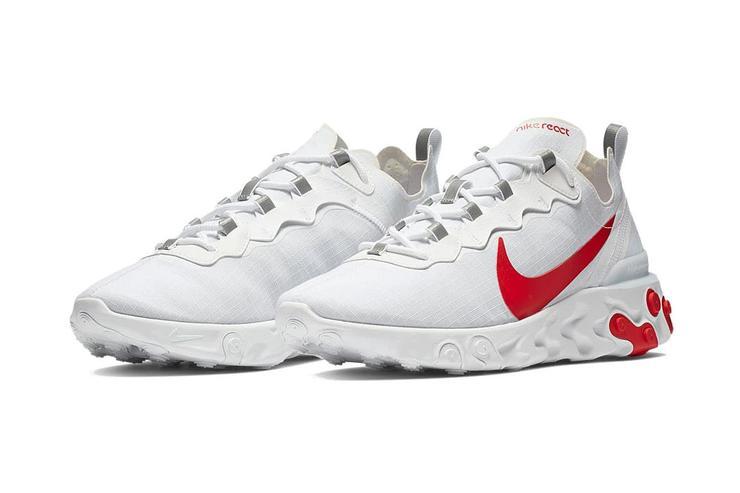promo code innovative design super quality Preview: Nike React Element 55 White Red - Le Site de la Sneaker