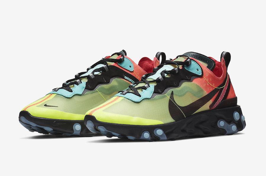 Nike React Element 87 Volt Racer/Pink Aurora - Le Site de la Sneaker