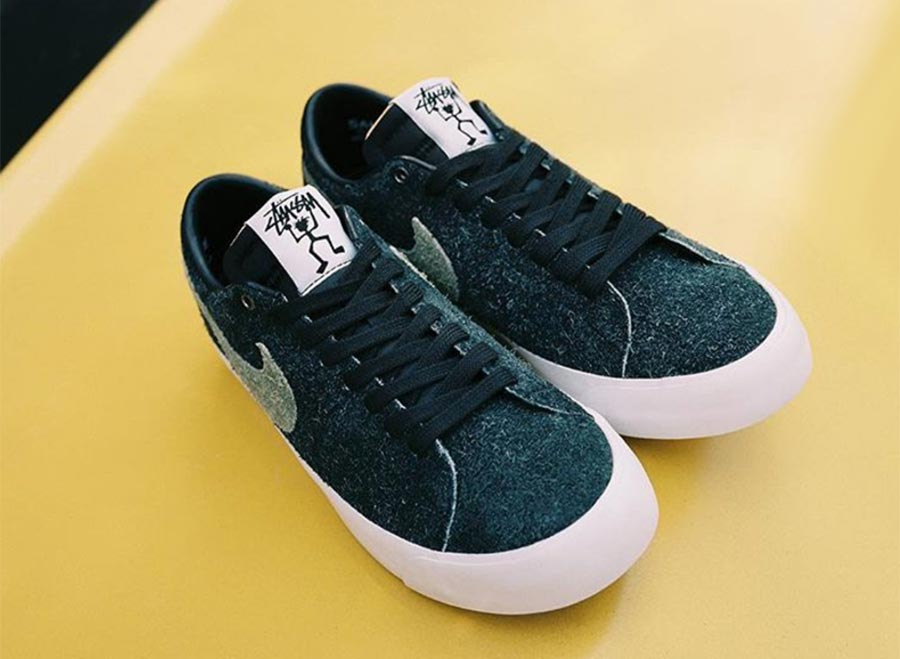 official photos 00a8c bf9dc Stussy x Nike SB Blazer Low