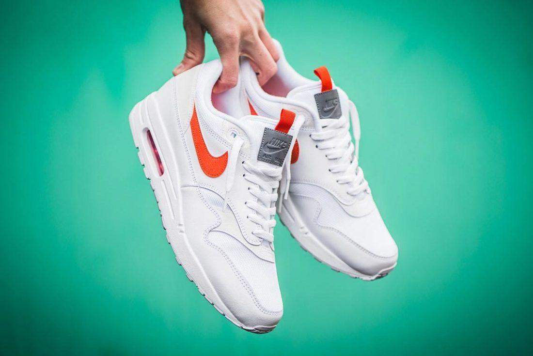 Nike Air Max 1 SE White Team Orange - Le Site de la Sneaker