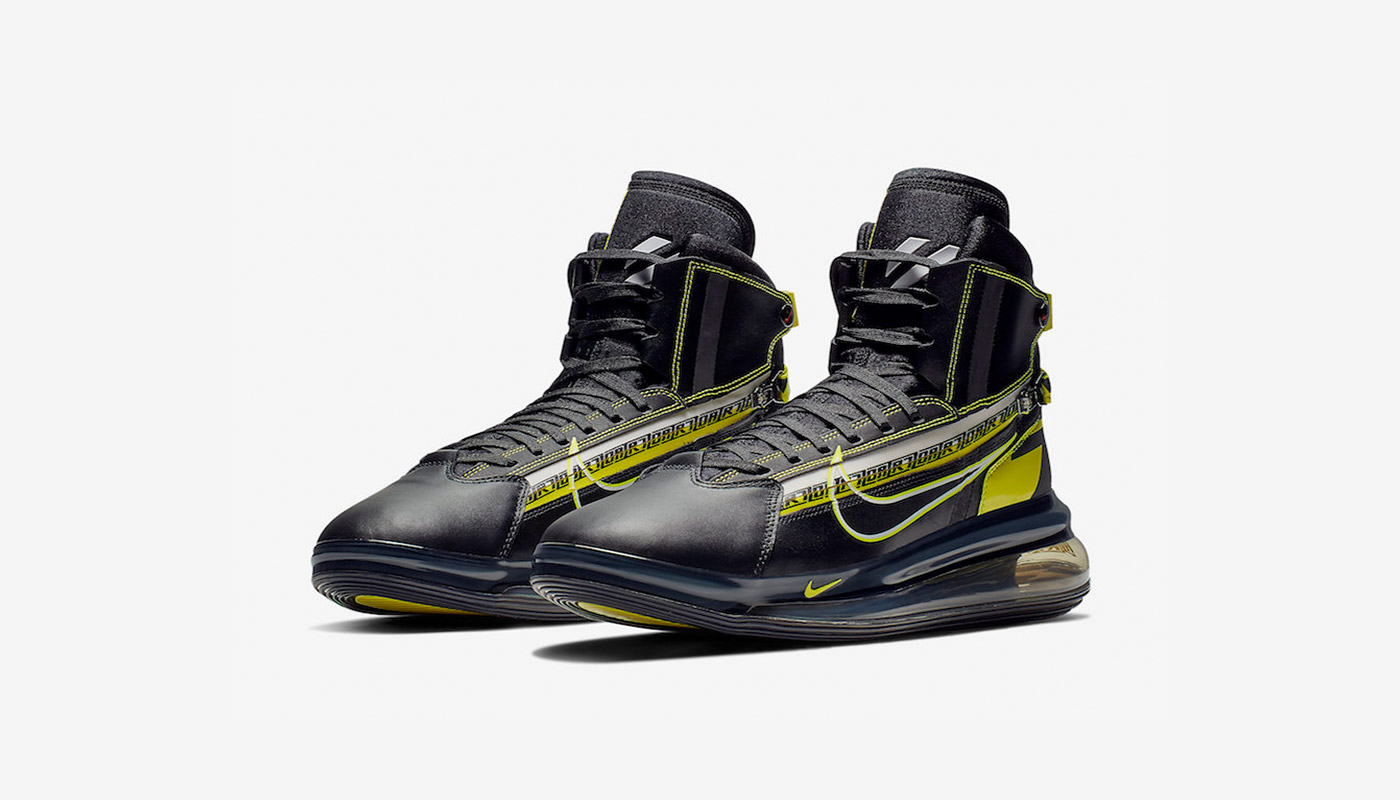 the latest 4ea49 af20d Nike Air Max 720 Saturn AS Black Yellow