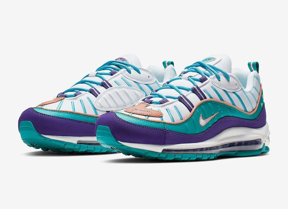 Nike AIR MAX 98 Court PurpleTerra BlushSpirit Teal