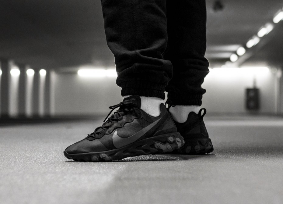 Nike React Element 55 BlackDark Grey