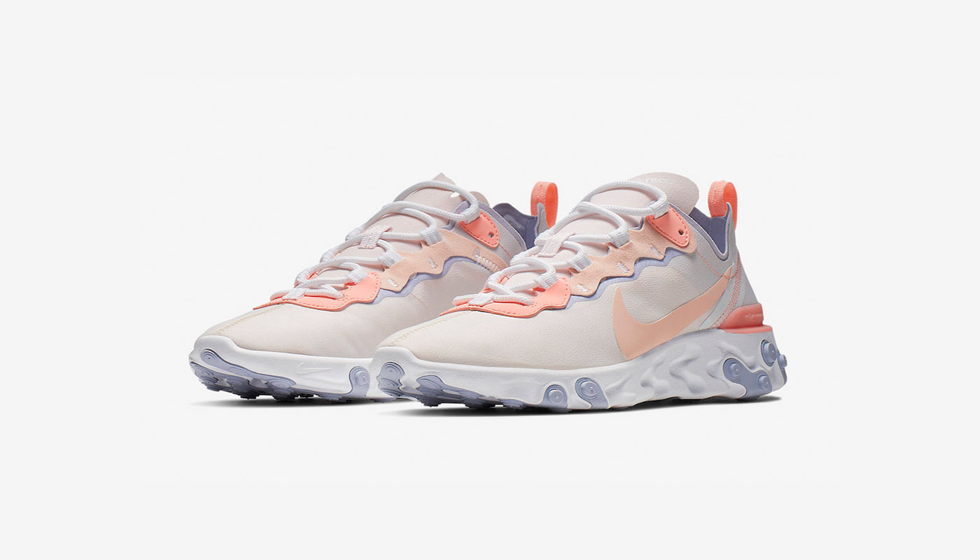 Preview: Nike React Element 55 Pale Pink - Le Site de la Sneaker
