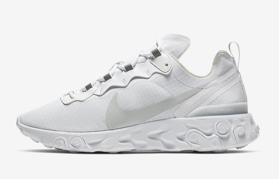 Preview: Nike React Element 55 White Pure Platinum - Le Site de la ...