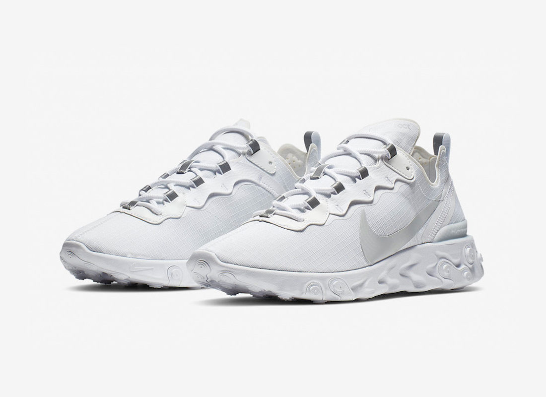 Preview: Nike React Element 55 White Pure Platinum Le Site