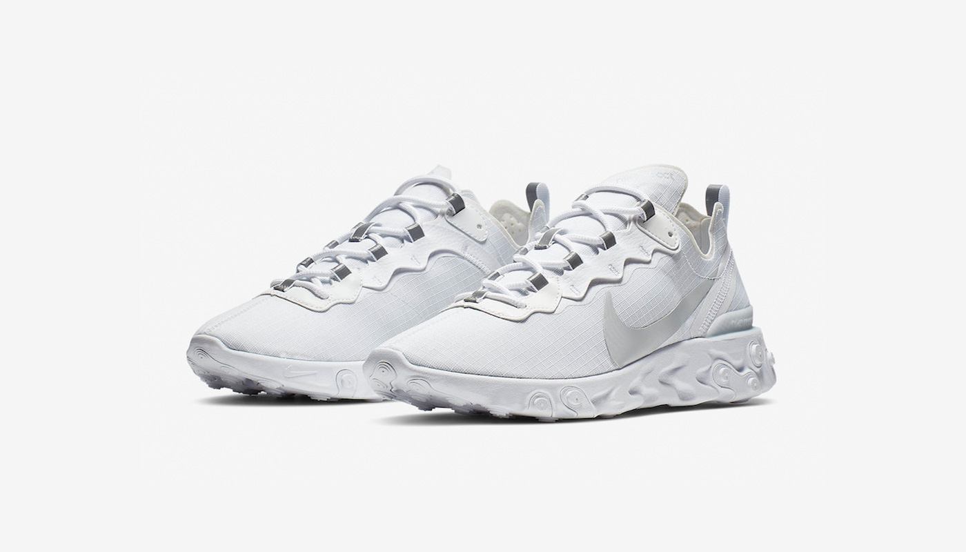 Preview: Nike React Element 55 White Pure Platinum - Le Site ...