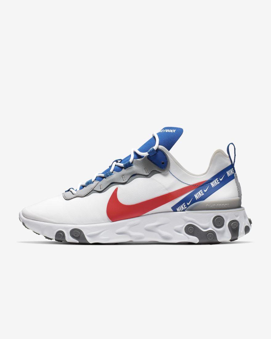 Nike React Element 55 White Royal Red - Le Site de la Sneaker