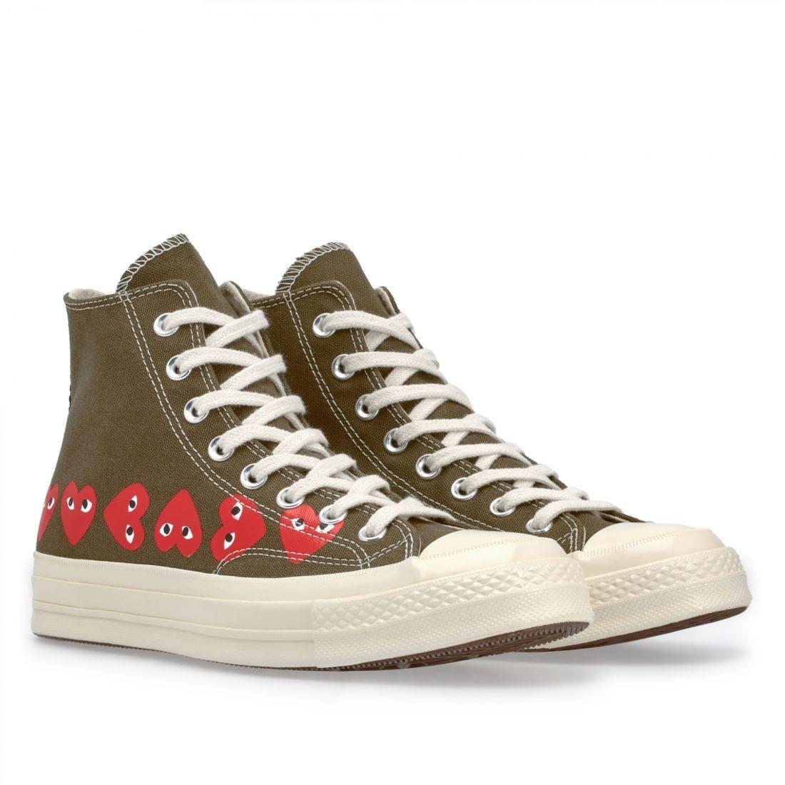 7d9f3530e751 Comme des GARÇONS x Converse Chuck 70 Hi Khaki - Le Site de la Sneaker