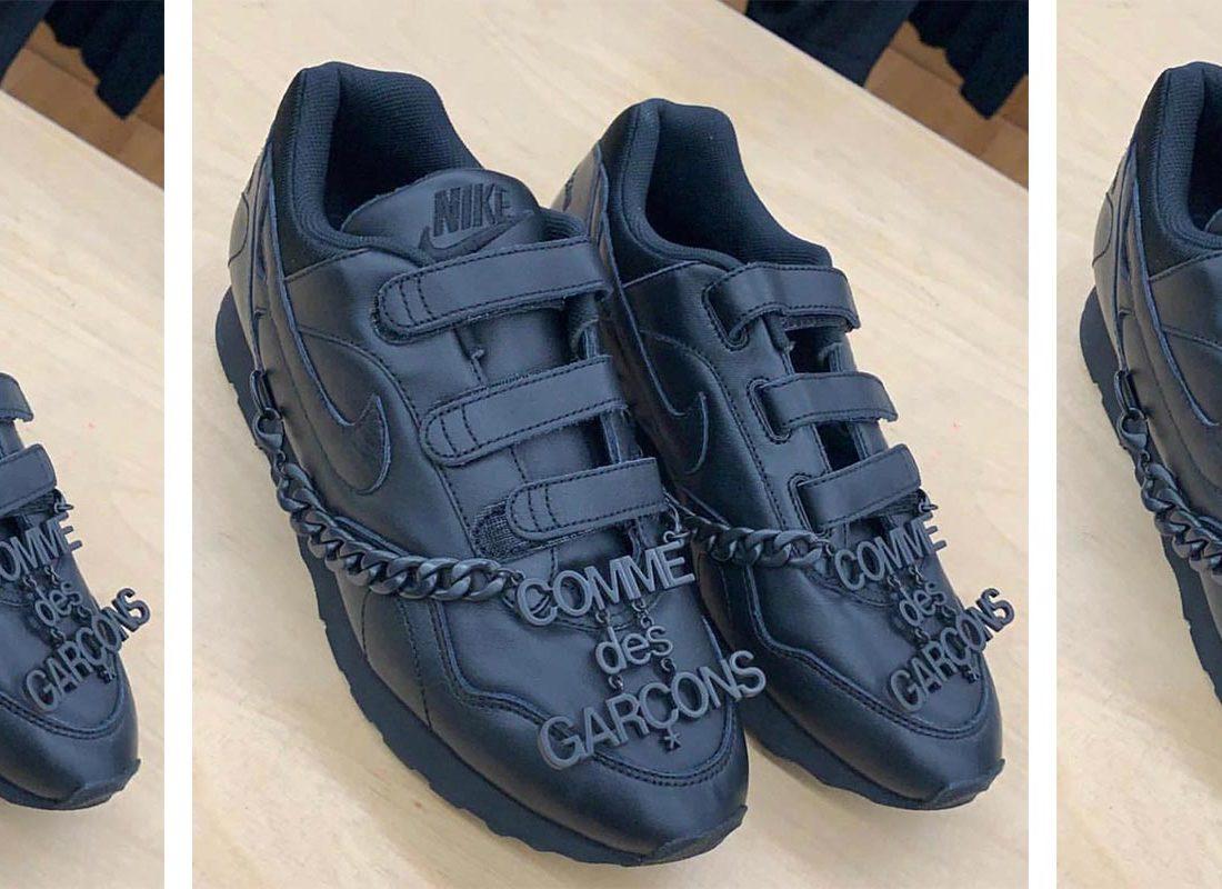 chaussures de séparation 8912e 9449a Une Comme des Garçons x Nike Black Velcro à l'horizon - Le ...