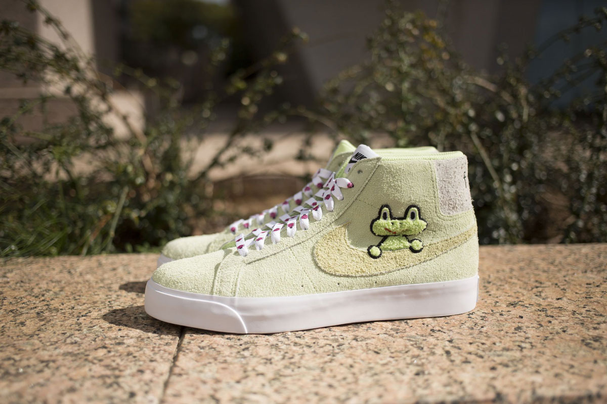detailed look super specials for whole family Frog Skateboards x Nike SB Blazer Mid