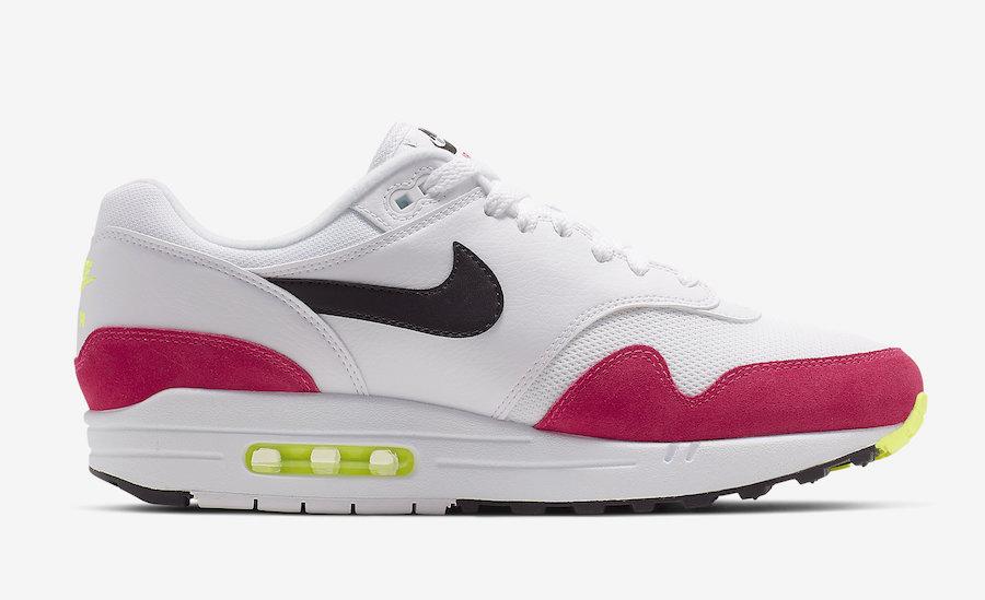 regard détaillé 02954 6507b Nike Air Max 1 White Volt Rush Pink