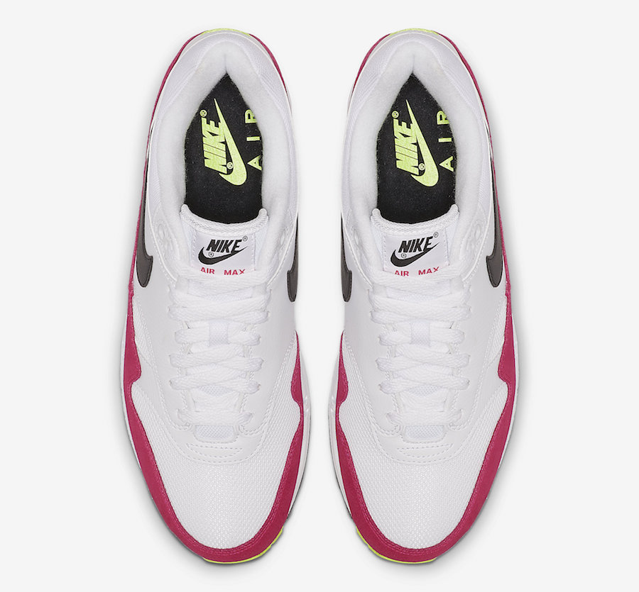 Nike Air Max 1 White Volt Rush Pink