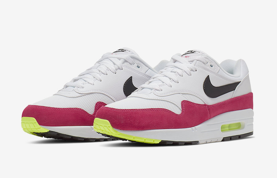 Nike Air Max 1 White Volt Rush Pink