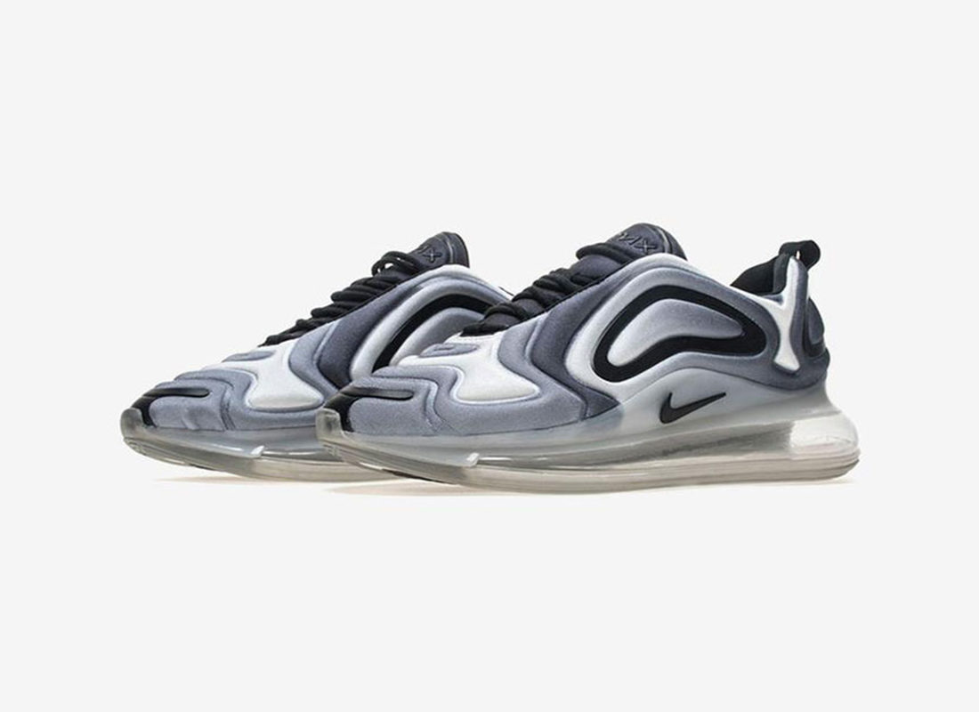 running shoes available detailing Preview: Nike Air Max 720 Black Metallic Silver - Le Site de ...
