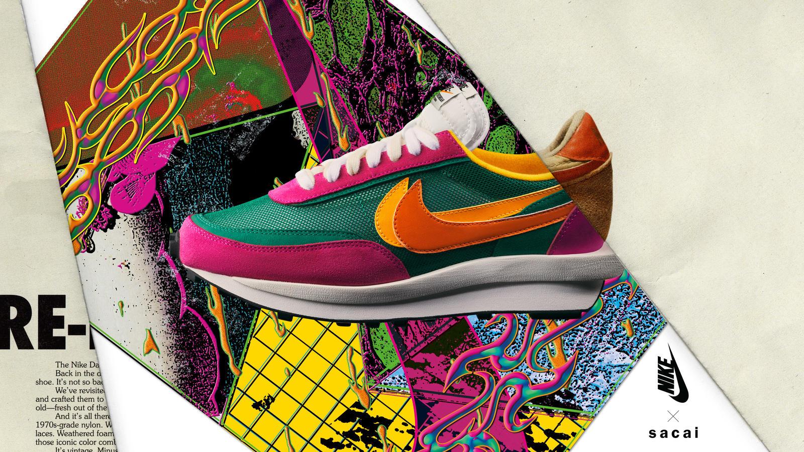 Sacai x Nike LDWaffle Pine GreenDel Sol