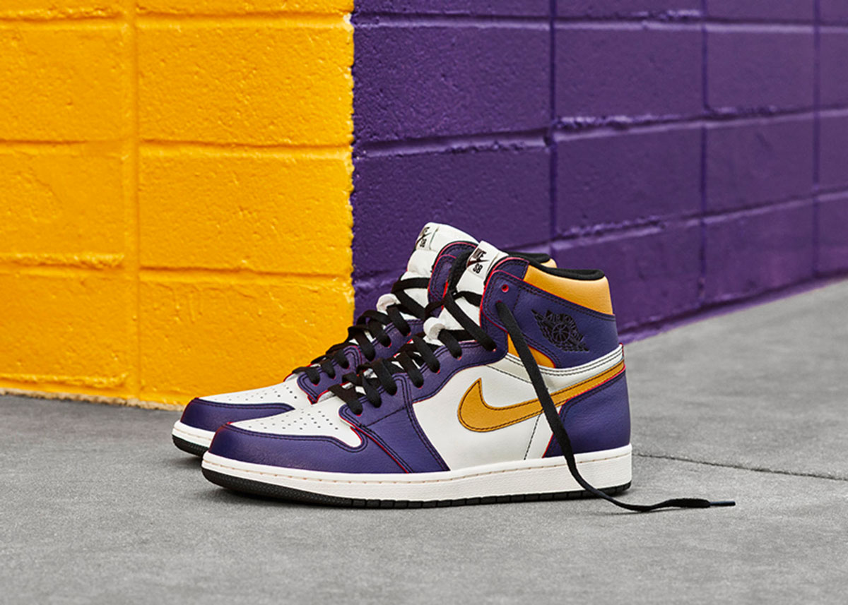 new high quality online for sale best prices Nike SB x Air Jordan 1 Court Purple 'LA/Chicago'