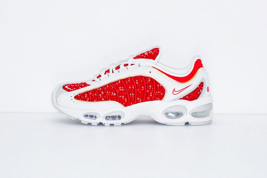 Supreme x Nike Air Max Tailwind IV White Red