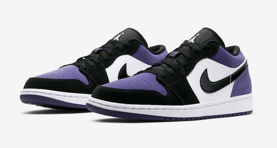 air jordan 1 low homme violet