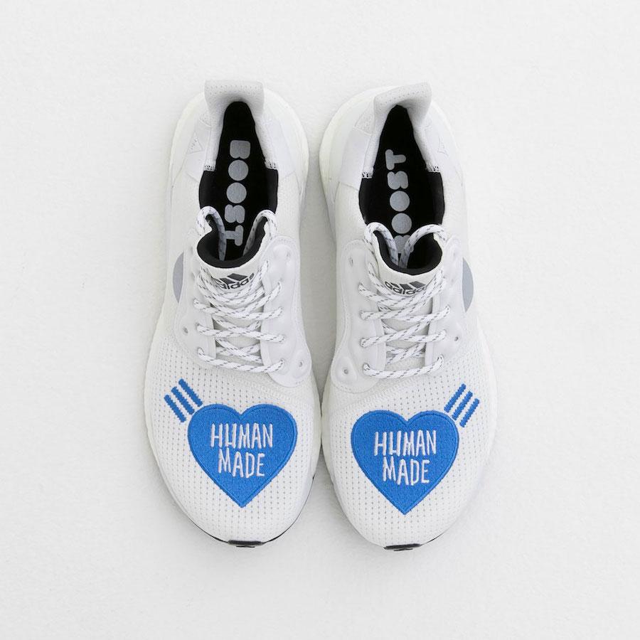 Human Made x adidas Solar Hu Glide White Blue