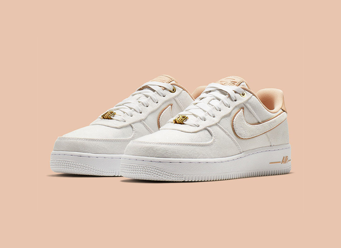 pas mal 60343 49664 Preview: Nike Air Force 1 Low 07 Lux White Gold Beige - Le ...