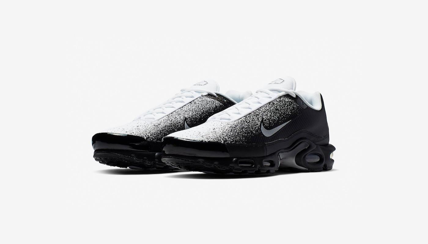 Nike dévoile la Air Max Plus Black White Spray Paint Le