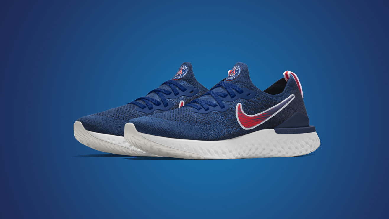 official first look dirt cheap Nike Epic React By You x PSG