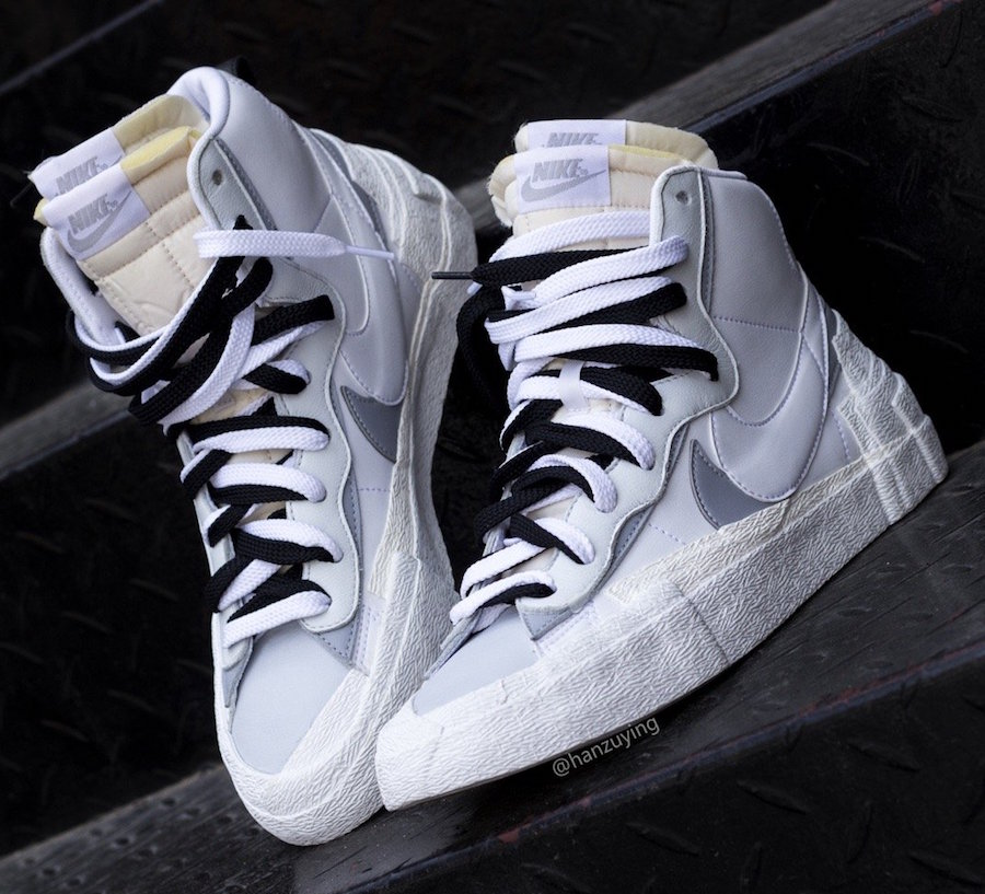 Une Sacai x Nike Blazer Mid Black Grey White à venir Le