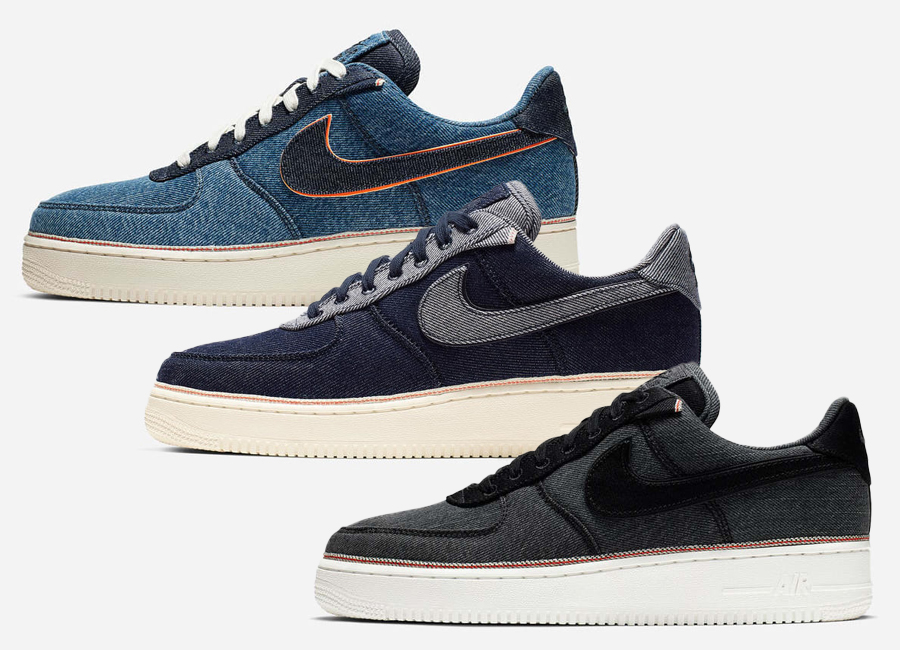 3×1 x Nike Air Force 1 'Selvedge Denim' Collection