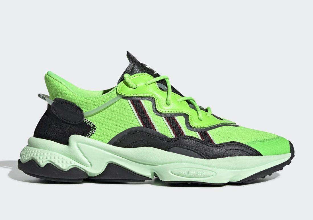 adidas ozweego vert fluo