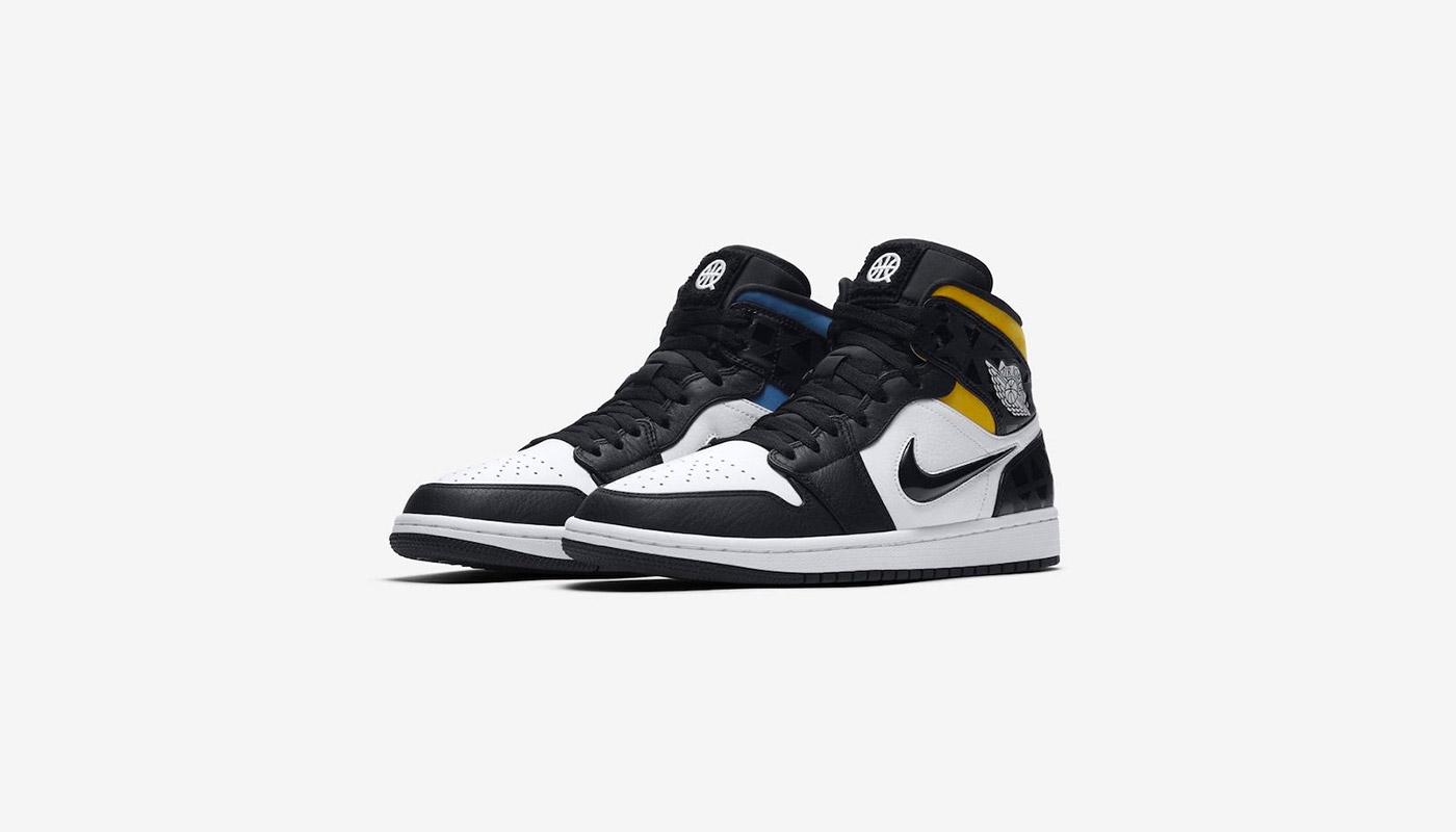 shop best sellers super quality on feet shots of Air Jordan 1 Mid Quai 54