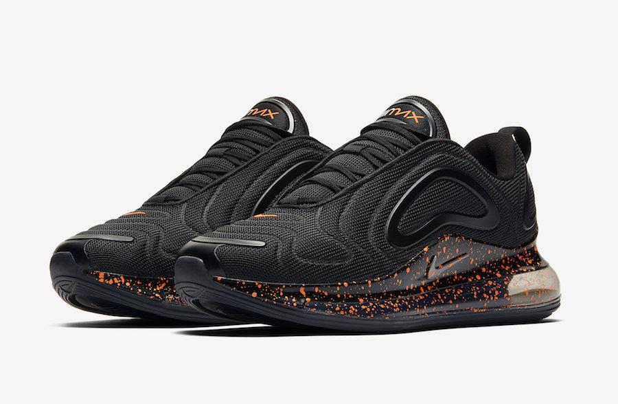 Preview: Nike Air Max 720 Black Orange Speckle Le Site de