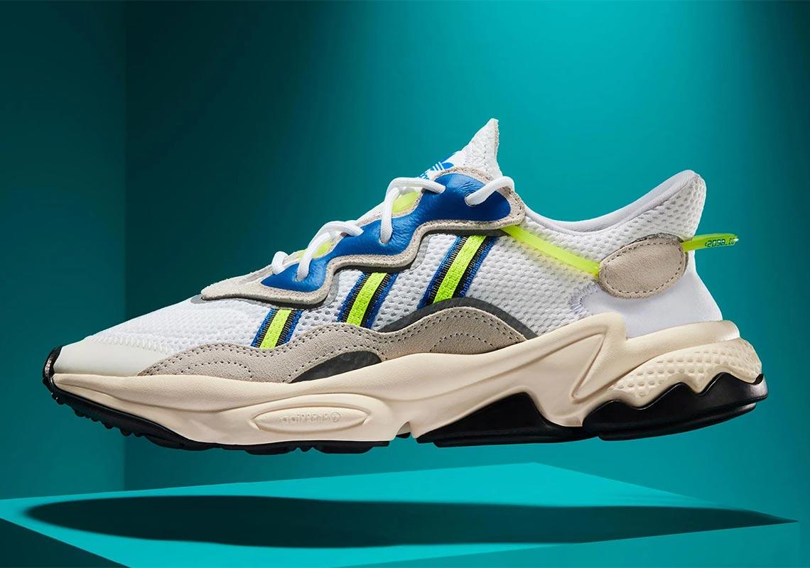 adidas ozweego blanche et jaune fluo